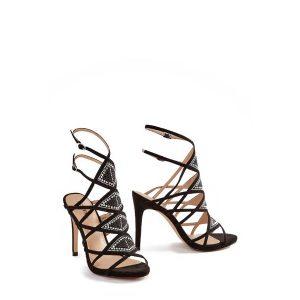 Chiara Black Heeled Sandals