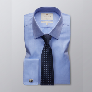 Hawes and Curtis Men's Blue Luxury Shirt