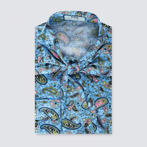 Hawes and Curtis Women Light Blue Satin Blouse