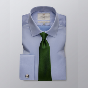 Hawes and Curtis Men's Blue Twill Shirt
