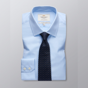 Hawes and Curtis Men's Blue Formal Shirt
