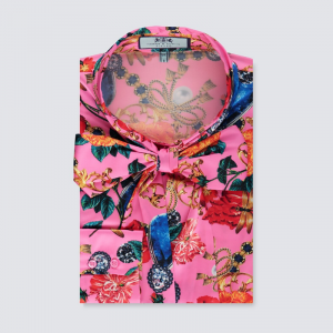 Hawes and Curtis Women Pink Satin Blouse