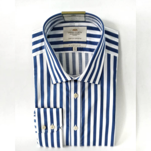 Hawes and Curtis Men's Blue & White Stripe