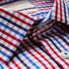 Hawes and Curtis Men's Red & Blue Multi-Colour