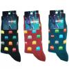 Mens Premium Cotton Mario Socks