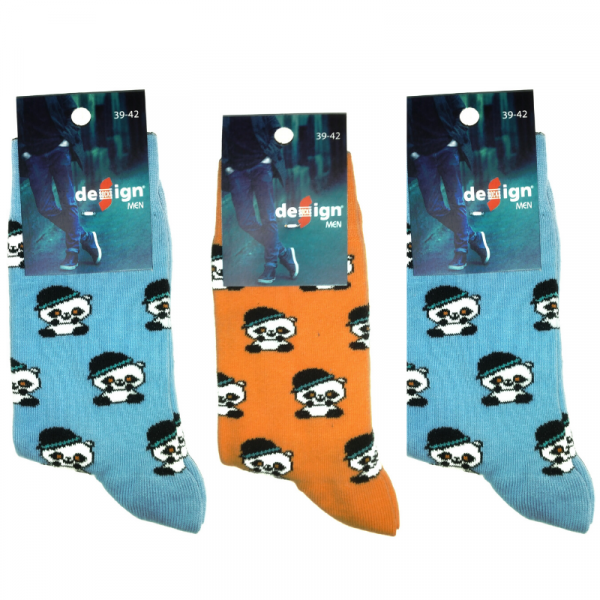 Mens Premium Cotton Panda Socks