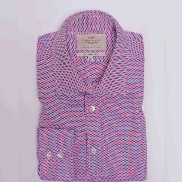 Hawes and Curtis Men Purple Matte Shirt