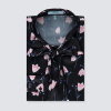 Hawes and Curtis Women Black Tulips Satin Blouse