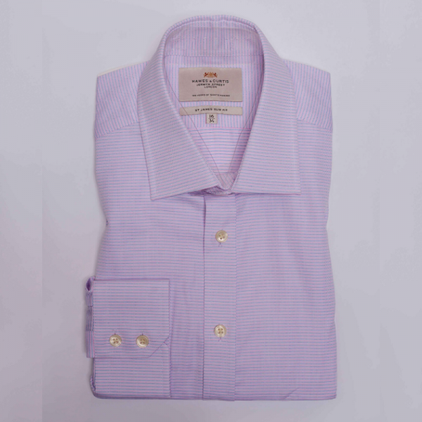 Hawes and Curtis Men Pink Navy Dotted Shirt